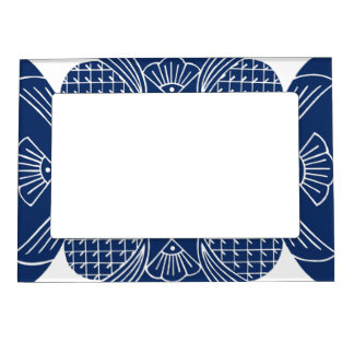 Underwater Fish Design with Blue Background Magnetic Picture Frame