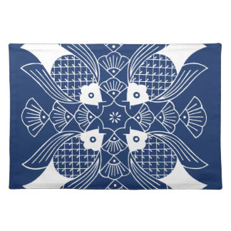 Underwater Fish Design with Blue Background Placemat