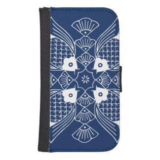 Underwater Fish Design with Blue Background Samsung S4 Wallet Case