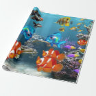 Underwater Fish Sealife Animal Wrapping Paper