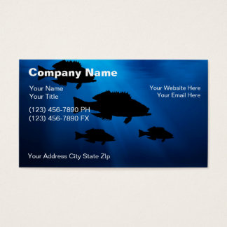 Underwater Fishing Business Cards