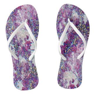 Underwater Forest (violet) Flip Flops