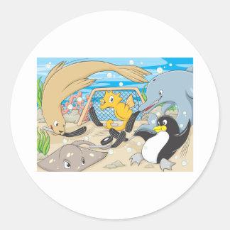 Underwater Hockey by Animals Round Sticker