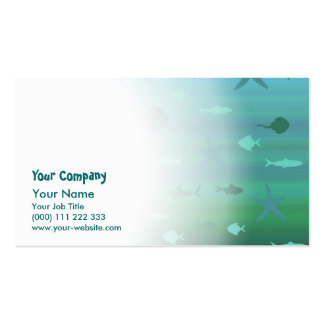 Underwater Life Business Card Template