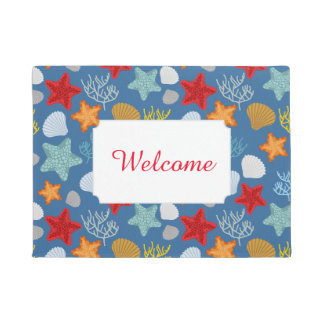 Underwater Life Pattern | Add Your Text Doormat