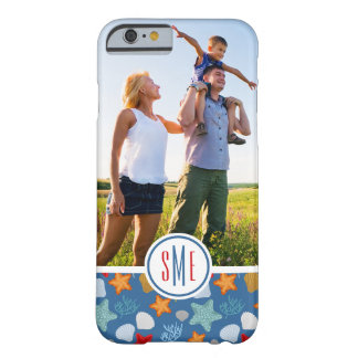 Underwater Life Pattern  Your Photo & Monogram Barely There iPhone 6 Case
