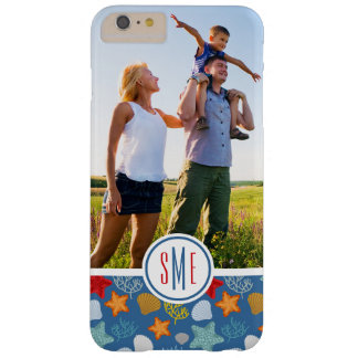 Underwater Life Pattern| Your Photo & Monogram Barely There iPhone 6 Plus Case