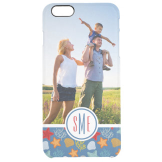 Underwater Life Pattern| Your Photo & Monogram Clear iPhone 6 Plus Case