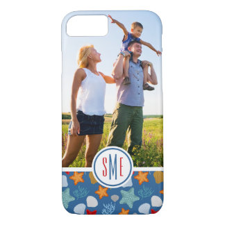 Underwater Life Pattern| Your Photo & Monogram iPhone 8/7 Case