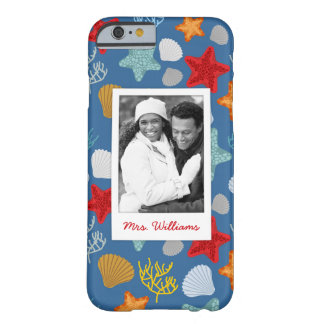 Underwater Life Pattern | Your Photo & Name Barely There iPhone 6 Case