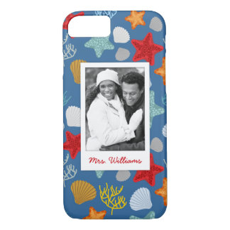 Underwater Life Pattern | Your Photo & Name iPhone 8/7 Case