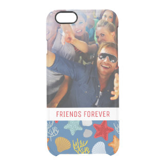 Underwater Life Pattern   Your Photo & Text Clear iPhone 6/6S Case