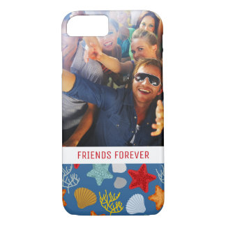 Underwater Life Pattern | Your Photo & Text iPhone 8/7 Case