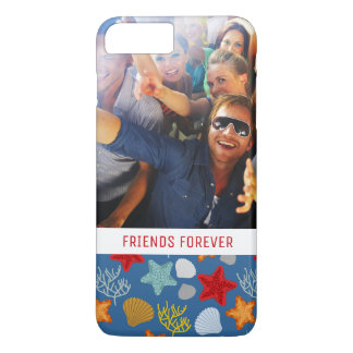Underwater Life Pattern | Your Photo & Text iPhone 8 Plus/7 Plus Case