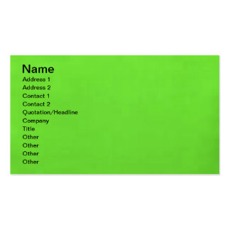 underwater lime green business card template