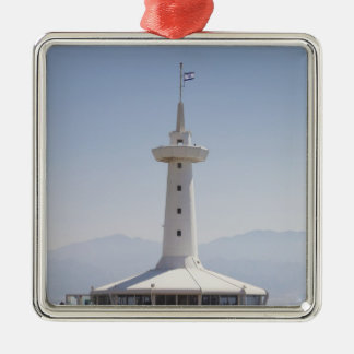 Underwater Marine Park, observation tower Silver-Colored Square Decoration