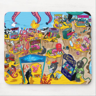 Underwater Market Mouse Pad