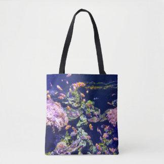 Underwater Orange Clown Fish Around Coral Tote Bag
