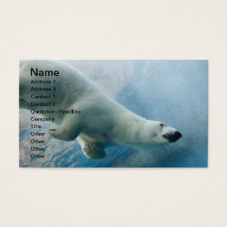 Underwater photo of a Polar Bear Business Card