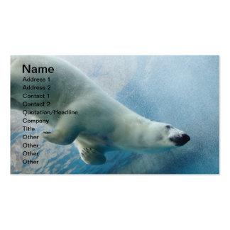 Underwater photo of a Polar Bear Business Card Templates