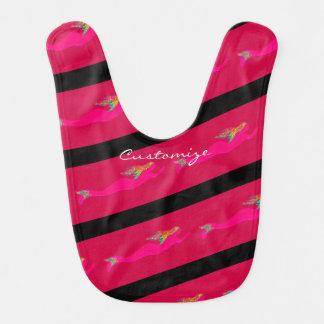 underwater pink mermaid swimming bib