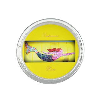 underwater pink mosaic mermaid