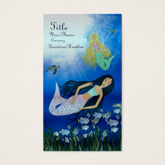 Underwater Play (Mermaid) Business Card
