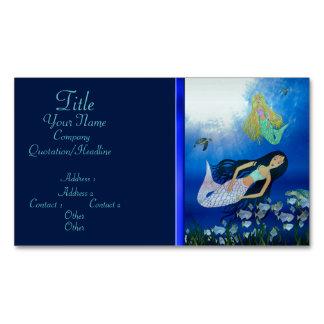 Underwater Play (Mermaid) Magnetic Business Cards