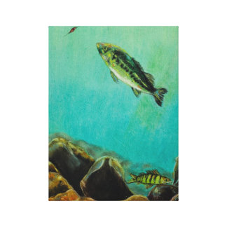 Underwater Predators panel 1 Gallery Wrapped Canvas