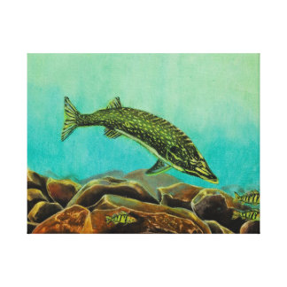Underwater Predators panel 2 Stretched Canvas Print