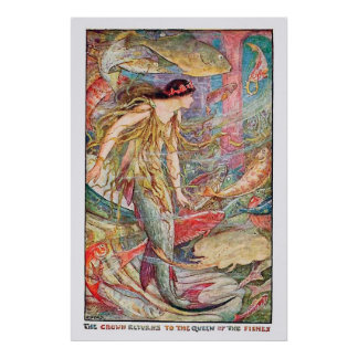 Underwater Queen of the Fishes Poster