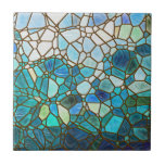 Underwater scene stained glass tiles