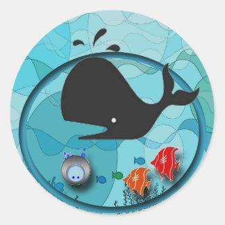Underwater Scene Round Sticker
