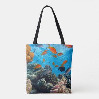 Underwater Scene Tote Bag