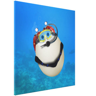 Underwater SCUBA Eggventure Canvas Prints