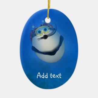 Underwater SCUBA Eggventure Christmas Tree Ornament