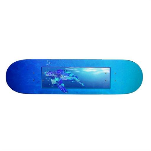 Underwater Sea Turtle Custom Skate Board