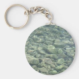 Underwater Stones Basic Round Button Key Ring