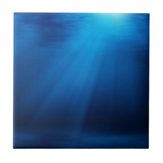 UNDERWATER SUNLIGHT SMALL SQUARE TILE