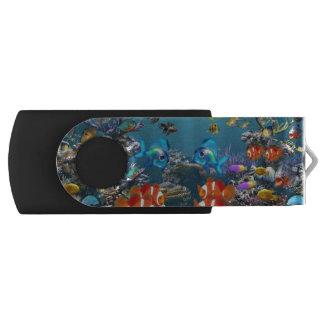 Underwater Swivel USB 2.0 Flash Drive