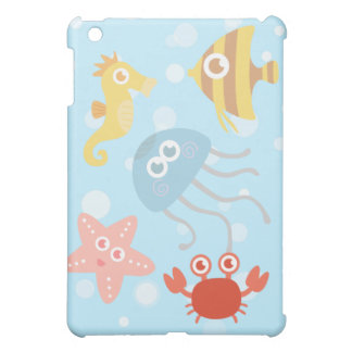 Underwater theme with adorable sea animals case for the iPad mini