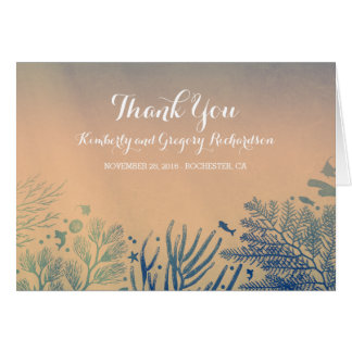 Underwater Themed Tropical Beach Wedding Thank You Card