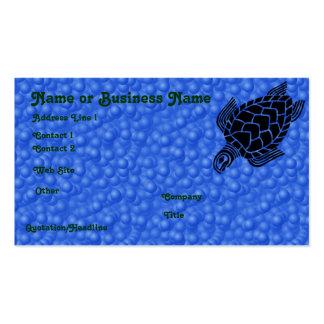 Underwater Tribal Sea Turtle Profile Card Business Card Template