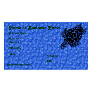Underwater Tribal Sea Turtle Profile Card Pack Of Standard Business Cards