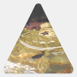 Underwater Trout feeding in Smoky Mountain creek Triangle Stickers