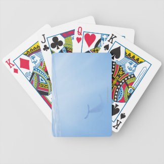 Underwater view of whale bicycle playing cards