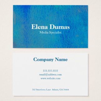 Underwater Watercolor Business Card