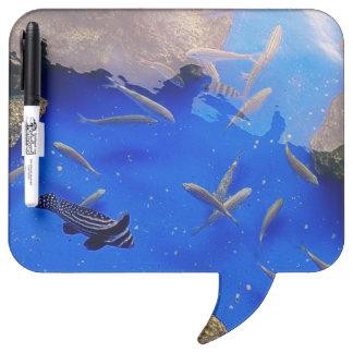 Underwater world clown fish swimming in the sea Dry-Erase board