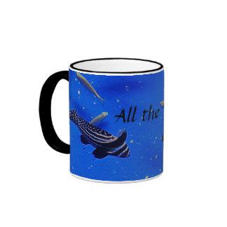 Underwater world clown fish swimming in the sea ringer mug