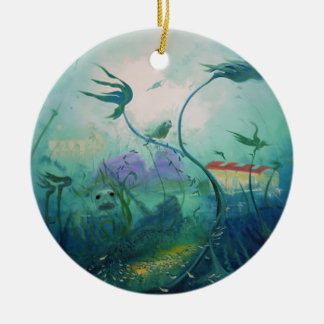 Underwater World Gifts Round Ceramic Decoration